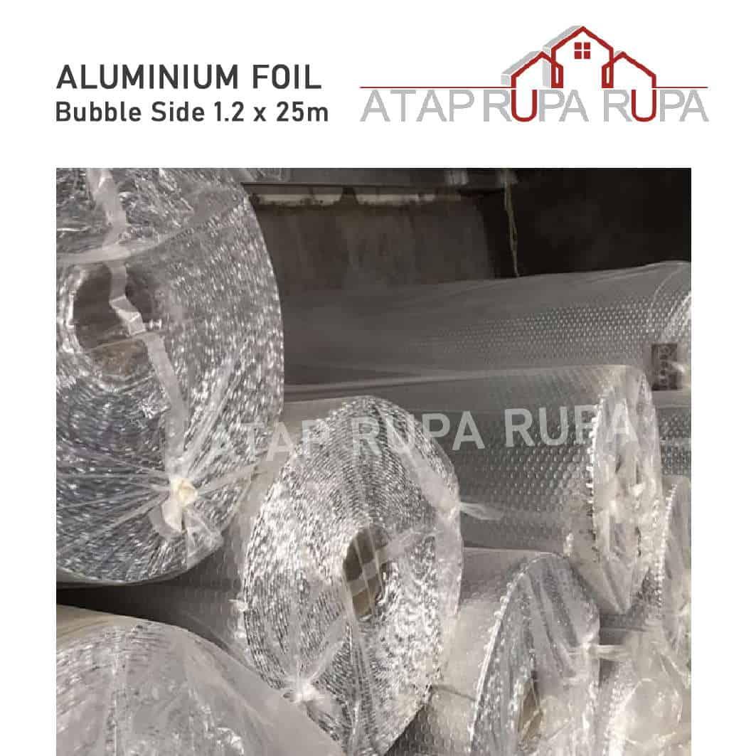Alumunium foil bubble side