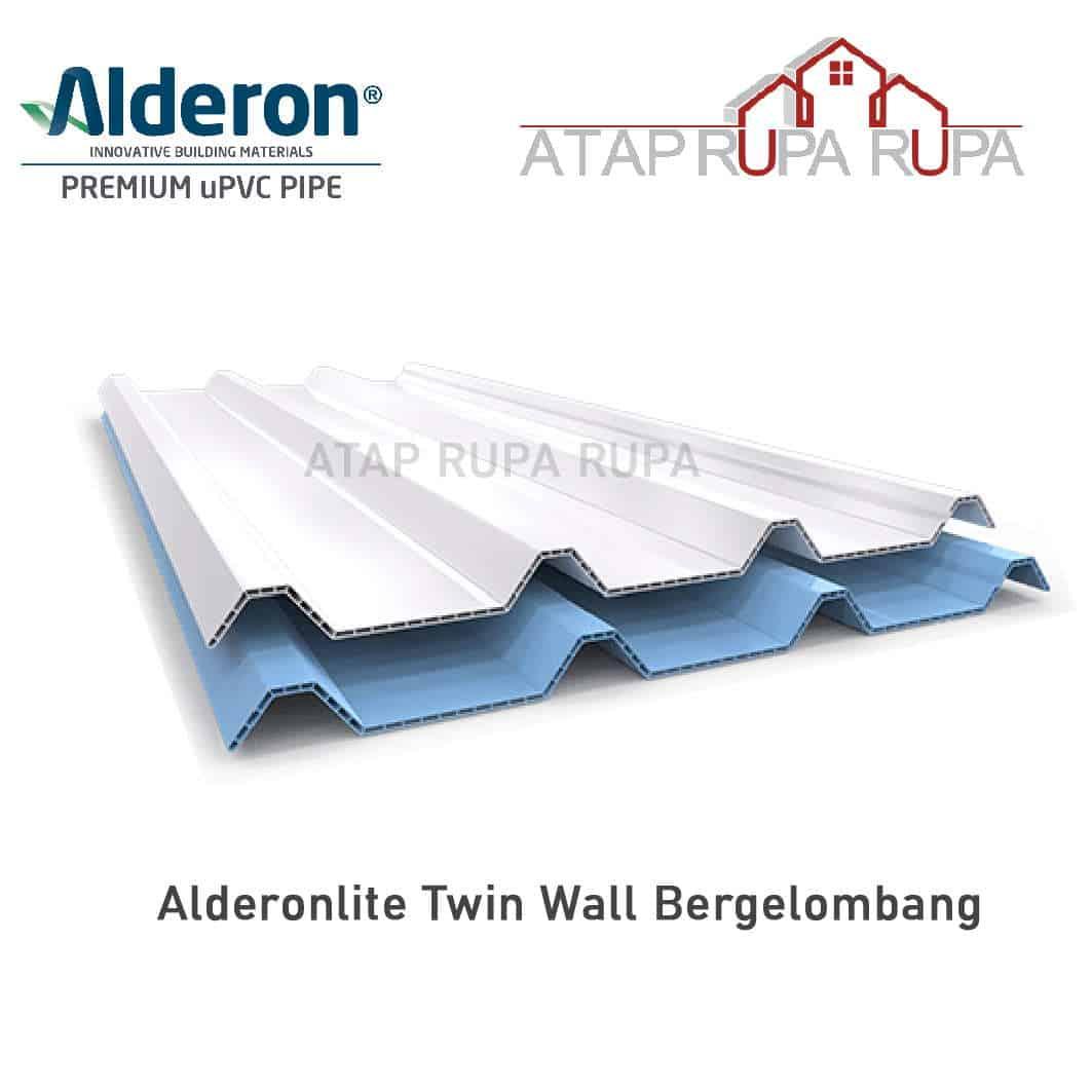 Atap uPVC ALDERON Alderonlite Twin Wall Bergelombang