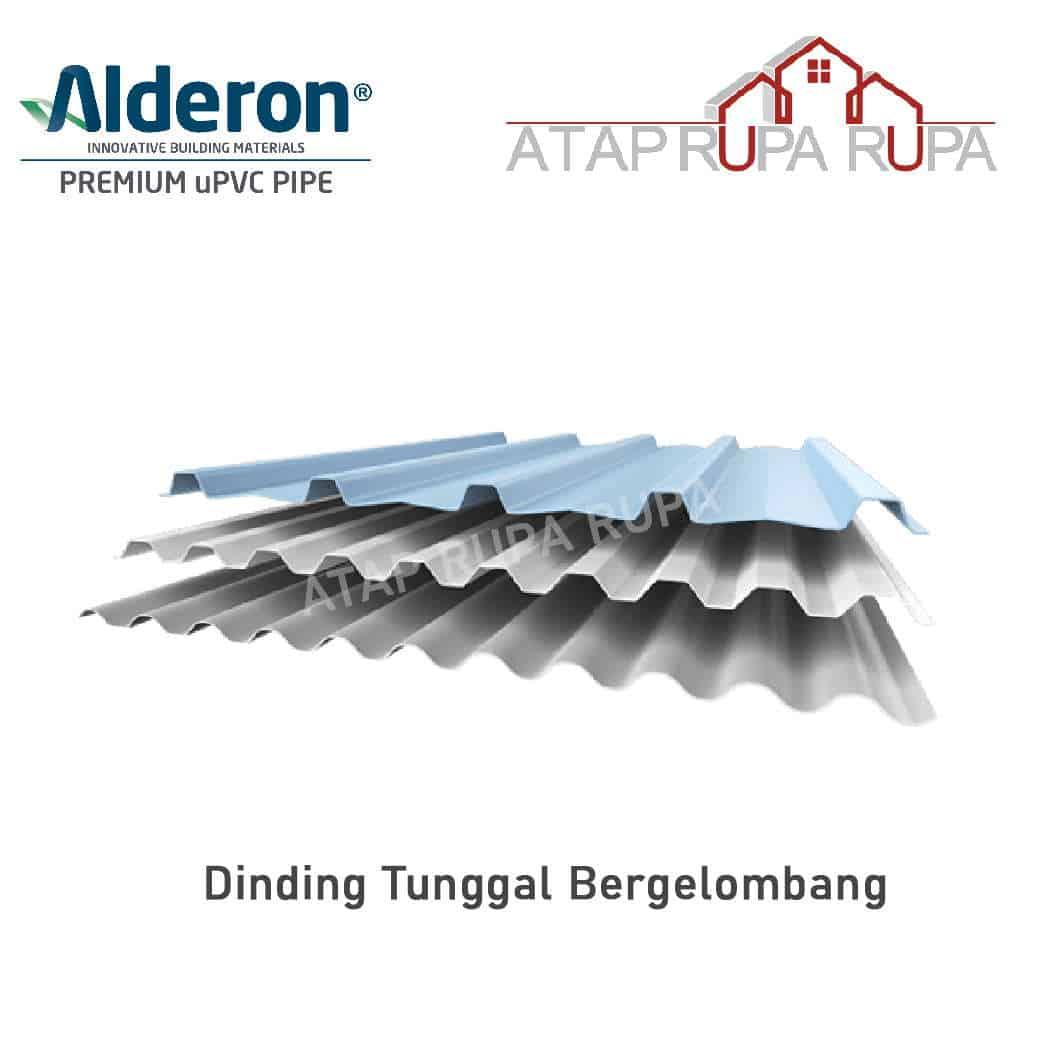 Atap uPVC ALDERON Dinding Tunggal Bergelombanger