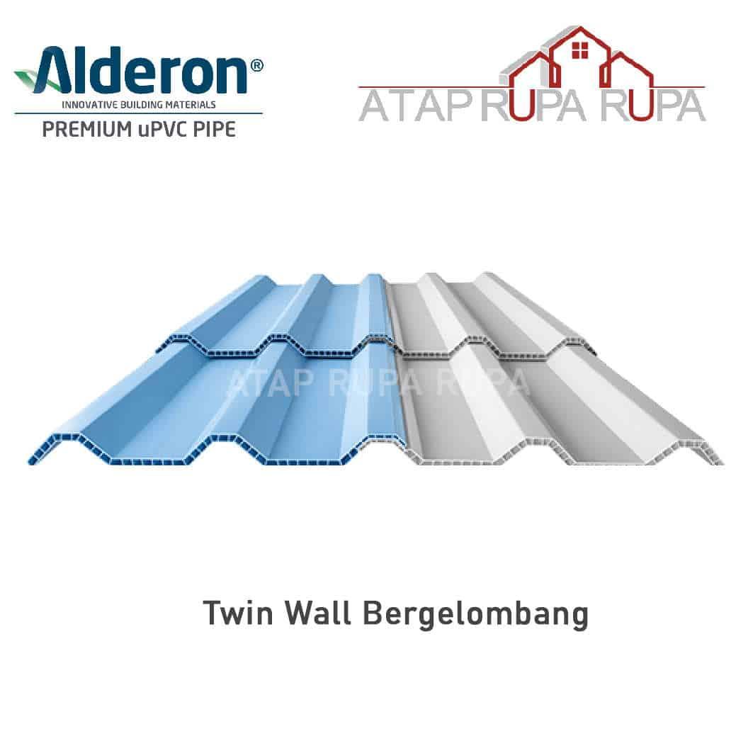 Atap uPVC ALDERON Twin Wall Bergelombang
