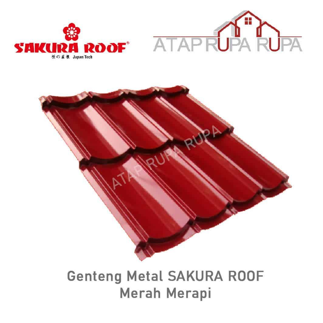 Genteng Metal Sakura Roof Maroon